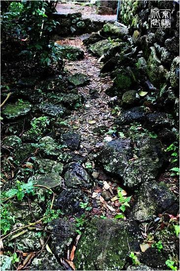 由火山岩铺就而成的道路