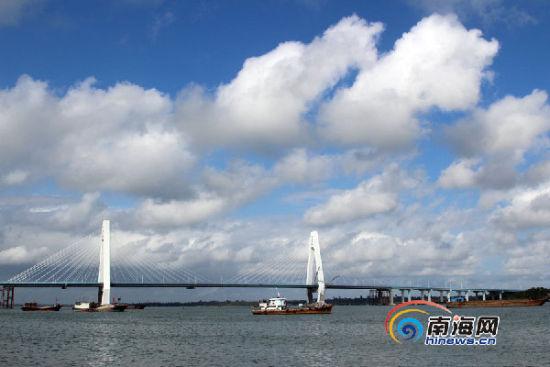 文昌清澜大桥将于12月18日正式通车。南海网记者陈望 摄