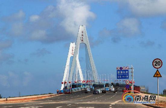 崭新的文昌清澜大桥。南海网记者陈望 摄