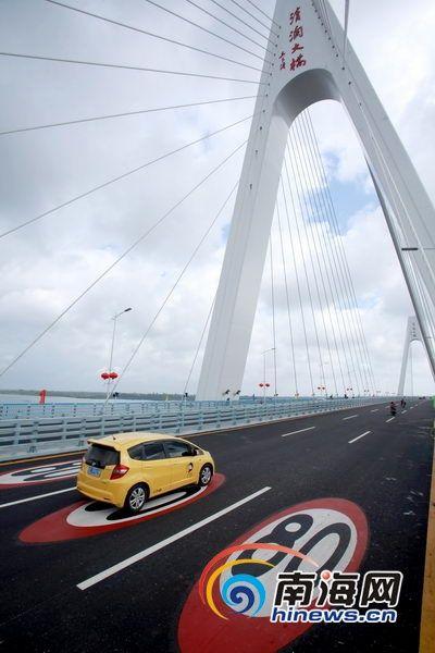 文昌清澜大桥12月18日正式通车,将极大促进当地经济的发展。(南海网记者张茂摄)