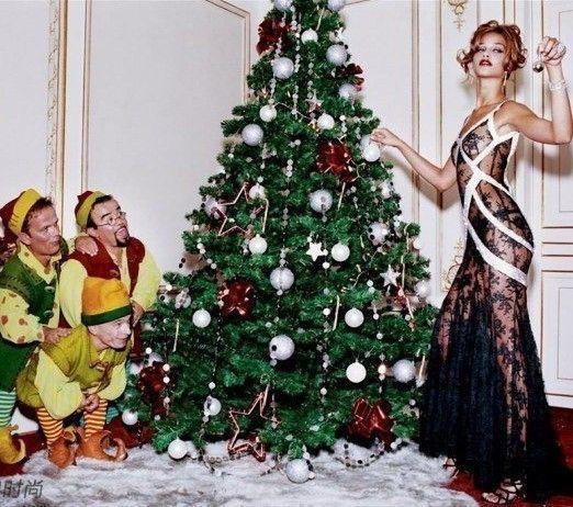 性感女郎与圣诞老人的香榭之吻