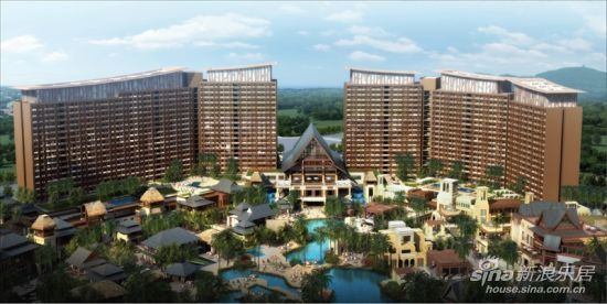 三亚湾红树林度假酒店效果图