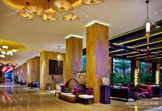 三亚湾红树林度假酒店大堂一角