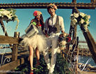 杂志色古铜皮肤美好的海岛冬日浪漫婚纱照