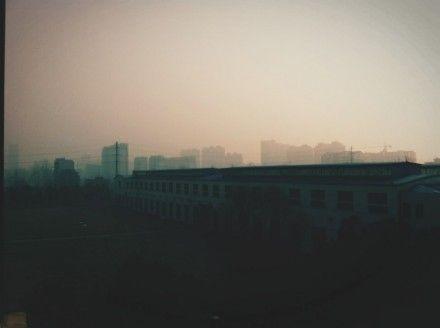 网友发布的江南小镇雾霾