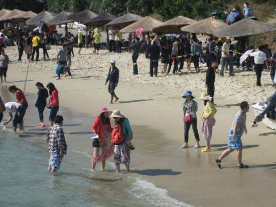 漂亮的亚龙湾海滩,真是漂亮的不行,大爱呀!
