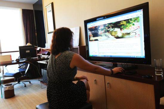 ▲30、电视也可以上网,大屏幕看博客挺好玩