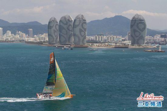 沃尔沃环球帆船赛在三亚(资料图)