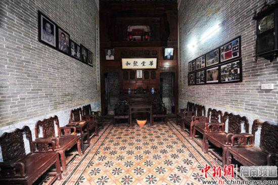 蔡家大院典雅而传统的厅堂。