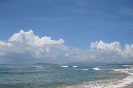 来到一处沙洲岛,不逊琼海玉带滩