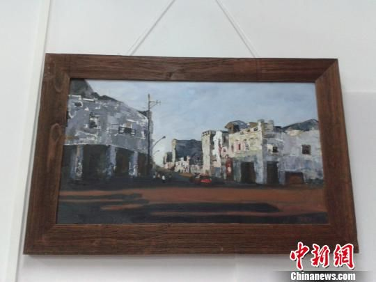 图为展出的书法作品《骑楼老街·博爱南》。 宋将 摄