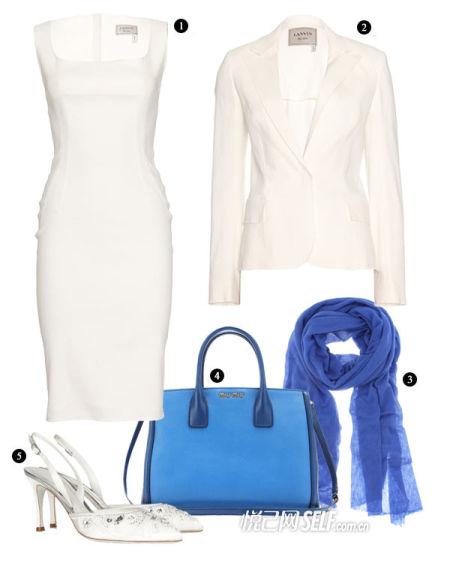 优雅白色套装搭配推荐(一)