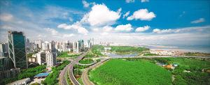 海口正向最精最美省会城市迈进。 记者 李幸璜 摄