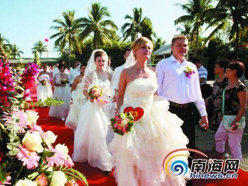 三亚天涯海角国际婚礼节资料图片