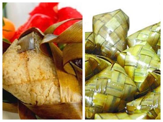 用长方形纸折粽子过程图解