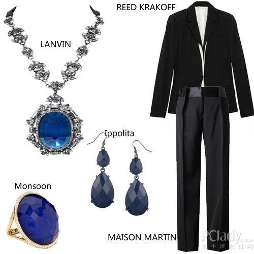 1、点睛珠宝推荐:LANVIN宝石项链