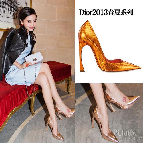 Dior2013春夏系列 金属色尖头鞋