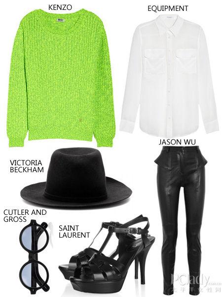 范冰冰同款针织衫+白色衬衫+黑色礼帽