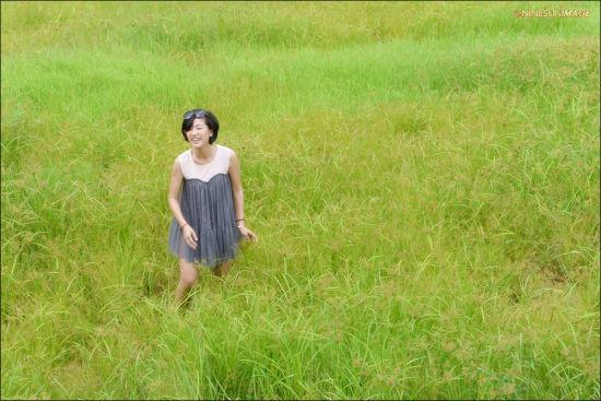 草丛里的欢笑