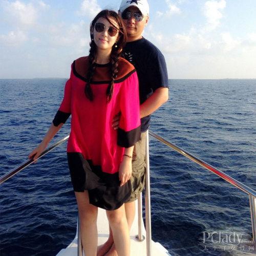 王全安张雨绮夫妇共赴马尔代夫