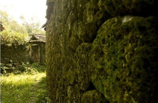 海口古村落居民家的墙