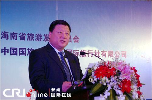 海南省旅游发展委员会副主任胡月明邀请每一位中外游客到海南尽情地深呼吸