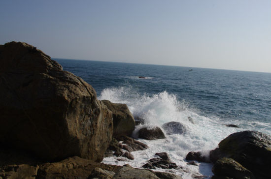 动车上拍到的大海