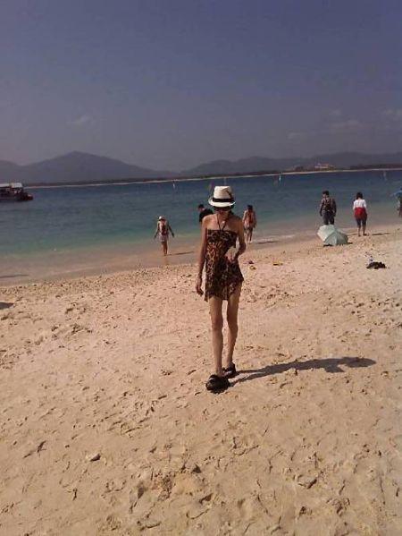 沙滩上的我