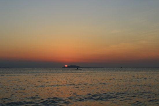 三亚湾的日落