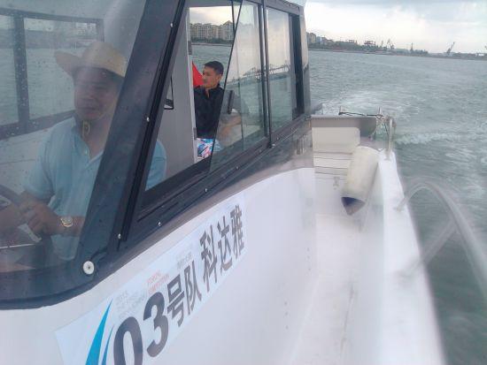 坐钓鱼船从码头出发前往体验海域,这艘钓鱼船是西沙海钓用船,几天后将现身西沙。