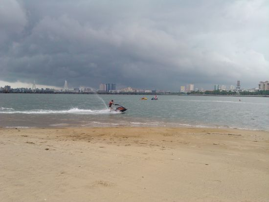 摩托艇体验激情现场。
