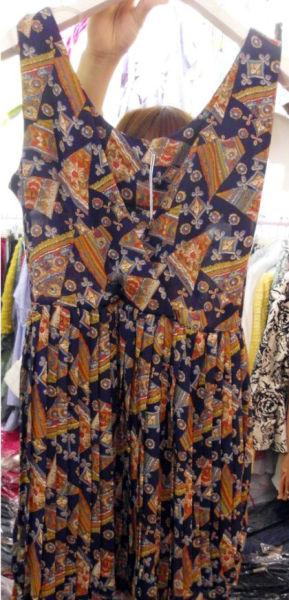 波西米亚风复古连衣裙