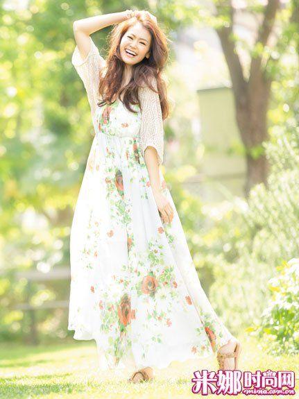 浪漫的印花长裙