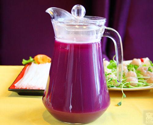 血糖饮品的专属a血糖老人紫薯汁(图)_温州微生大西洋城海南美食图片