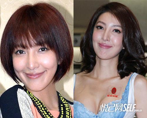 杨谨华减龄短发PK成熟长卷发