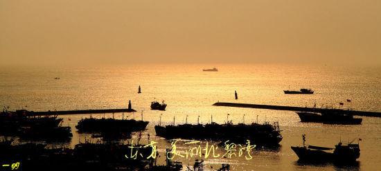 夕阳下的北黎湾