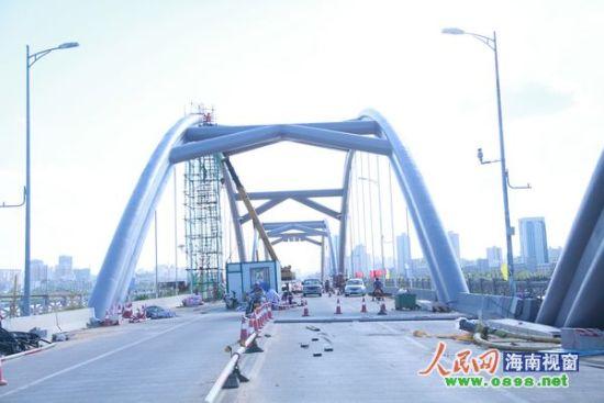 琼州大桥维修加固工程进展顺利