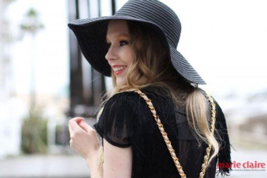 时尚博主Carolina Engman爱笑的酷女孩