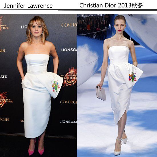 Jennifer Lawrence 身穿Christian Dior 2013秋冬系列出席活动