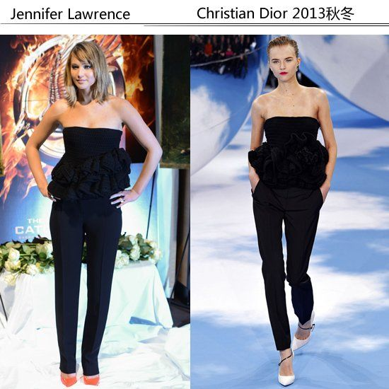 Jennifer Lawrence 身穿Christian Dior 2013秋冬系列