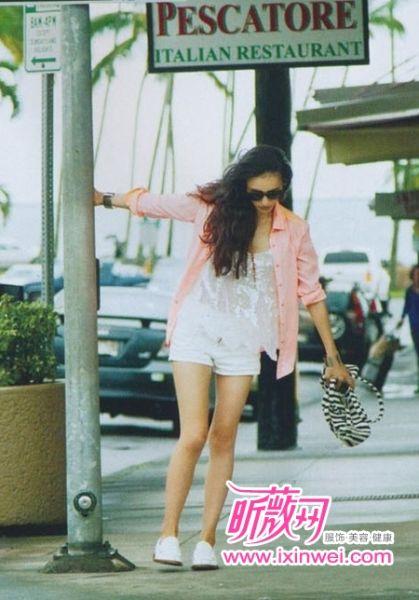 微笑的长谷川润示范夏日度假Style