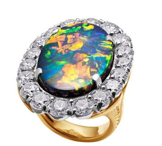 Asulikeit古董典藏系列高级珠宝Desertsun戒指
