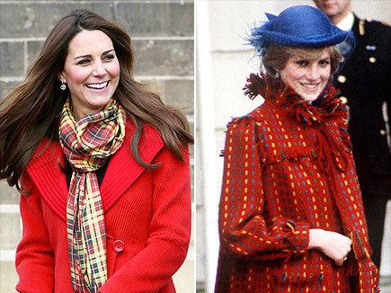 凯特王妃与戴安娜孕期服装大比拼