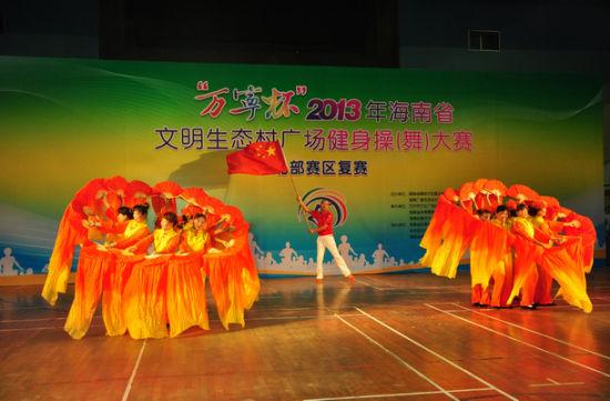 参赛队伍各显神通,将广场舞演绎得惟妙惟肖。