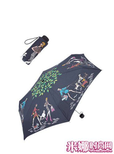 无论是在日本还是美国都大受欢迎的模特印花折叠伞。