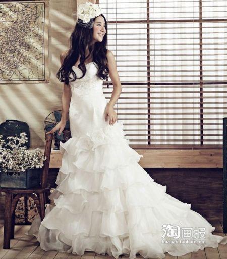 波西米亚新风雅婚纱 北欧童话的梦幻公主