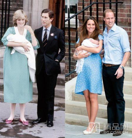 31岁的威廉王子与凯特王妃在医院门口