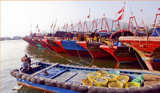 各色渔船又出发了开始了一天的工作