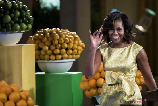 盘点奥巴马夫人时髦造型特写