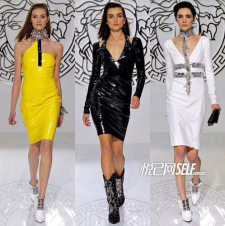 2013秋冬成衣T台 Versace掀起摇滚风暴